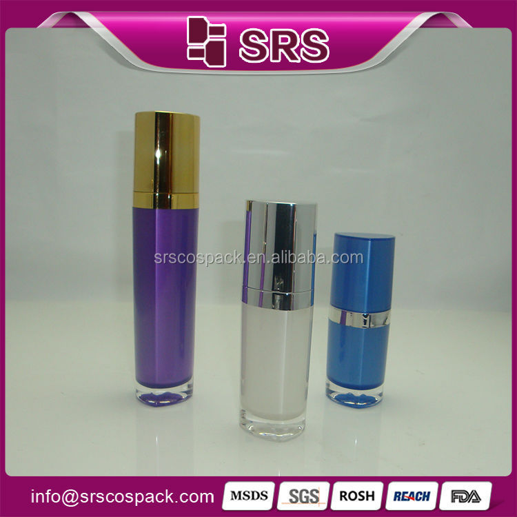 Good Looking Gold Cap Lotion Container And 15ml 30ml 50ml Triangle ...