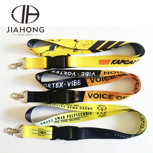 Cheap Custom personalized yellow colored polyester medal sublimation lanyard