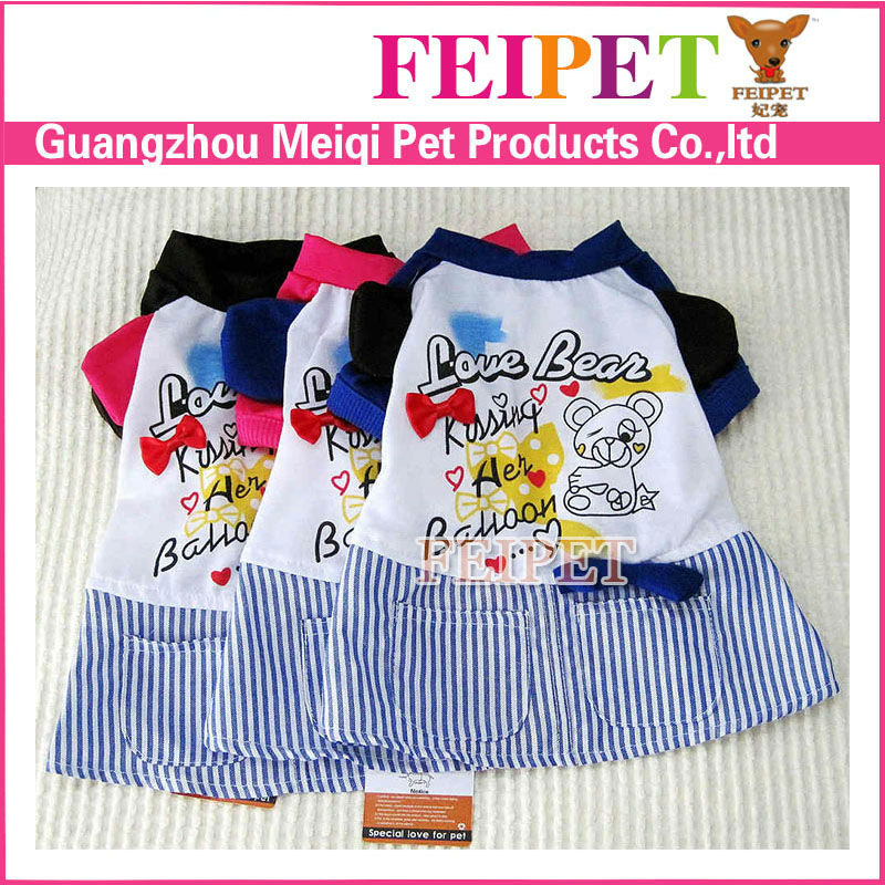 Factory price dog summer dress feipet brand pet dog clothes wholesale pet supply
