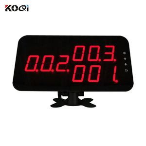 Hotel Table Bell With Waiter Call Bell Wrist Watch System 433.92Mhz Electronic Number Display System