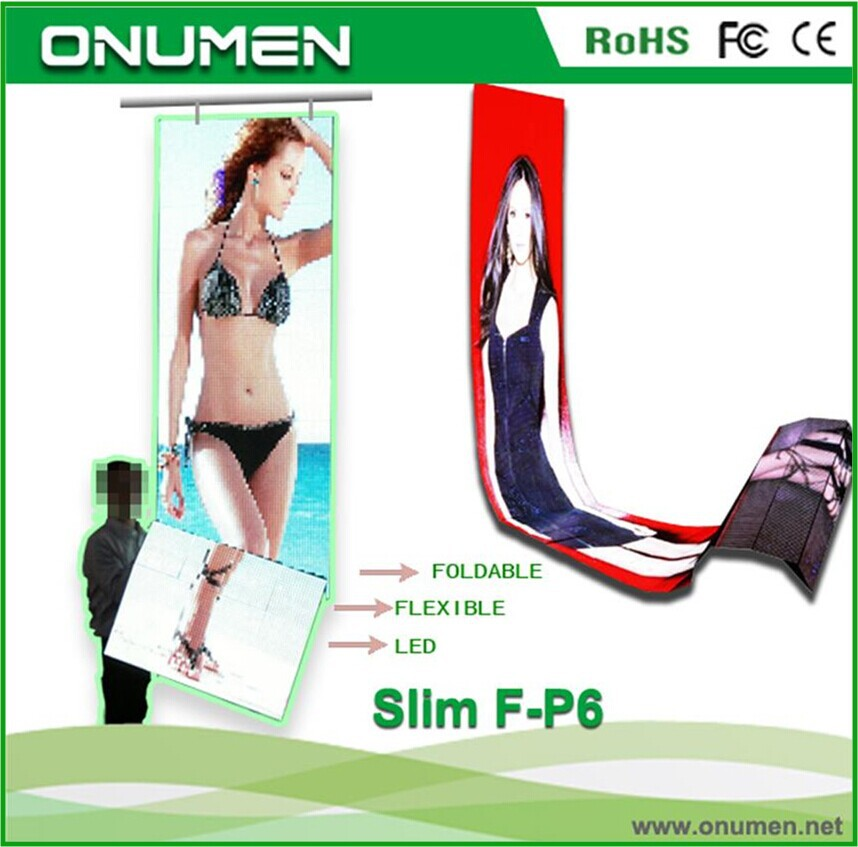 Onumen ultra slim patent out door led screen for advertising videos
