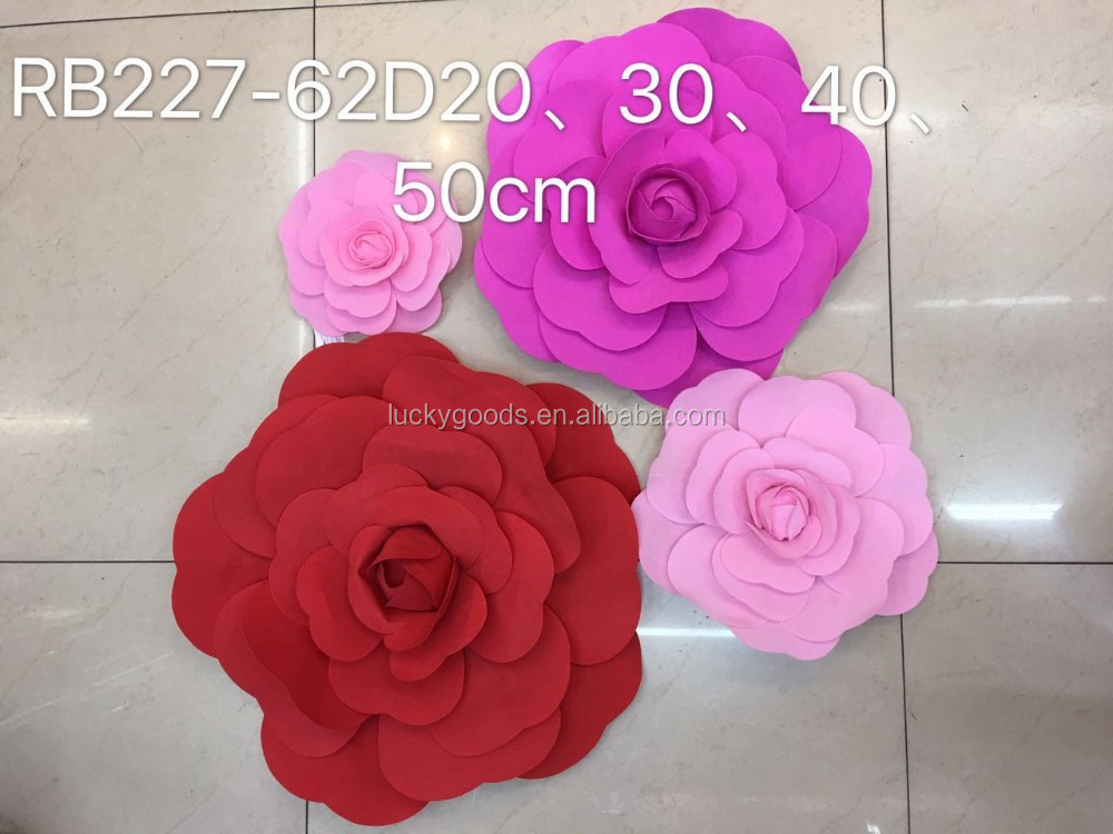 stage backdrop decoration large artificial flower heads for sale