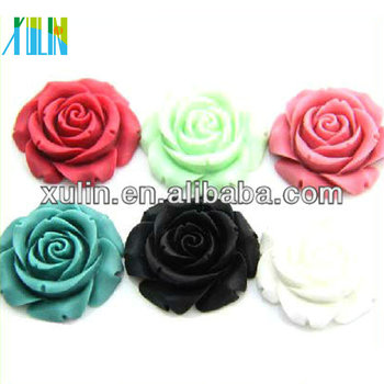 resin accessories mixed flower cabochons flower beads