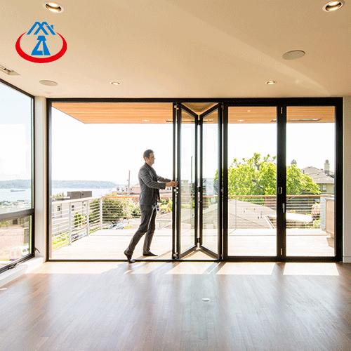 product-The Best Bi fold Doors Aluminum With Tempered Glass Folding Door Interior-Zhongtai-img