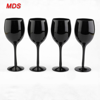 Personalized Black Red Antique Wine Glasses Cheap