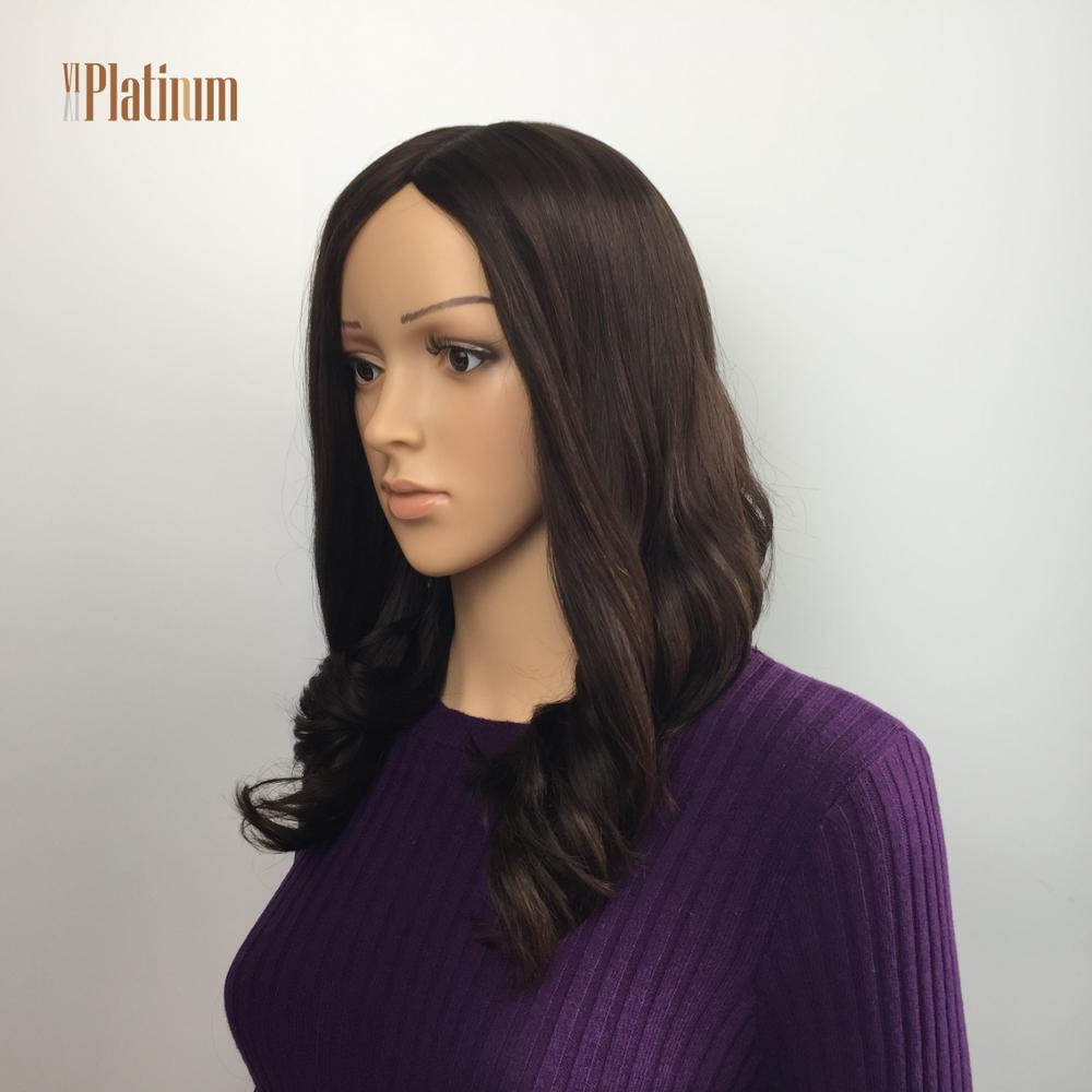 Big discount medium length soft thin jewish wigs european hair,full hand tied mono top wigs