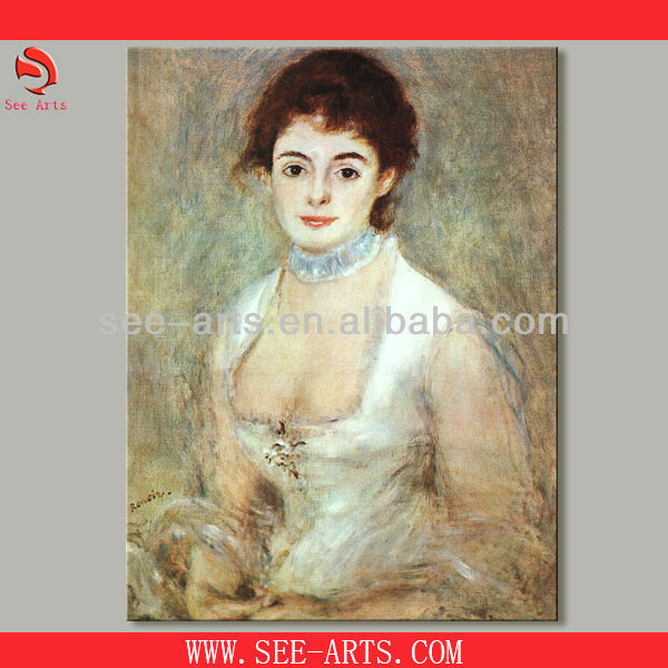 Hand made reproduction oil painting of renoir