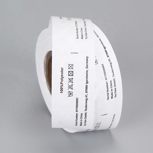 High Quality Labels Supplier Custom Print Instruction Nylon Fabric Clothing Wash Care Labels in Roll