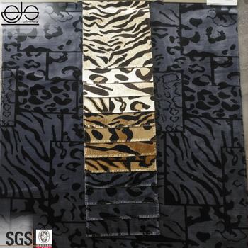 2018 Animal Print Velvet Upholstery Fabric For Sofa Cover By The