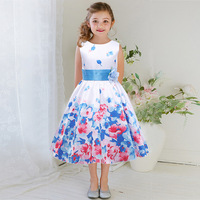 2017 New Toddler Fashion Girls dress names with pictures floral printed dress for dress up games for girls