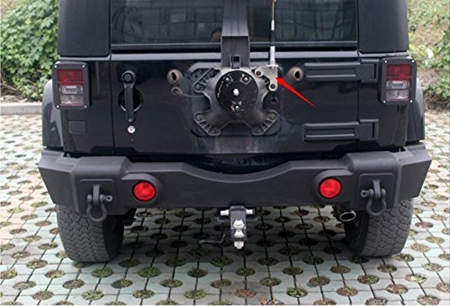 Get Quotations · Amooca Jeep Spare Tire CB Antenna Mount For 2007 U0026 Up Jeep  Wrangler Unlimited Rubicon LIBERTY