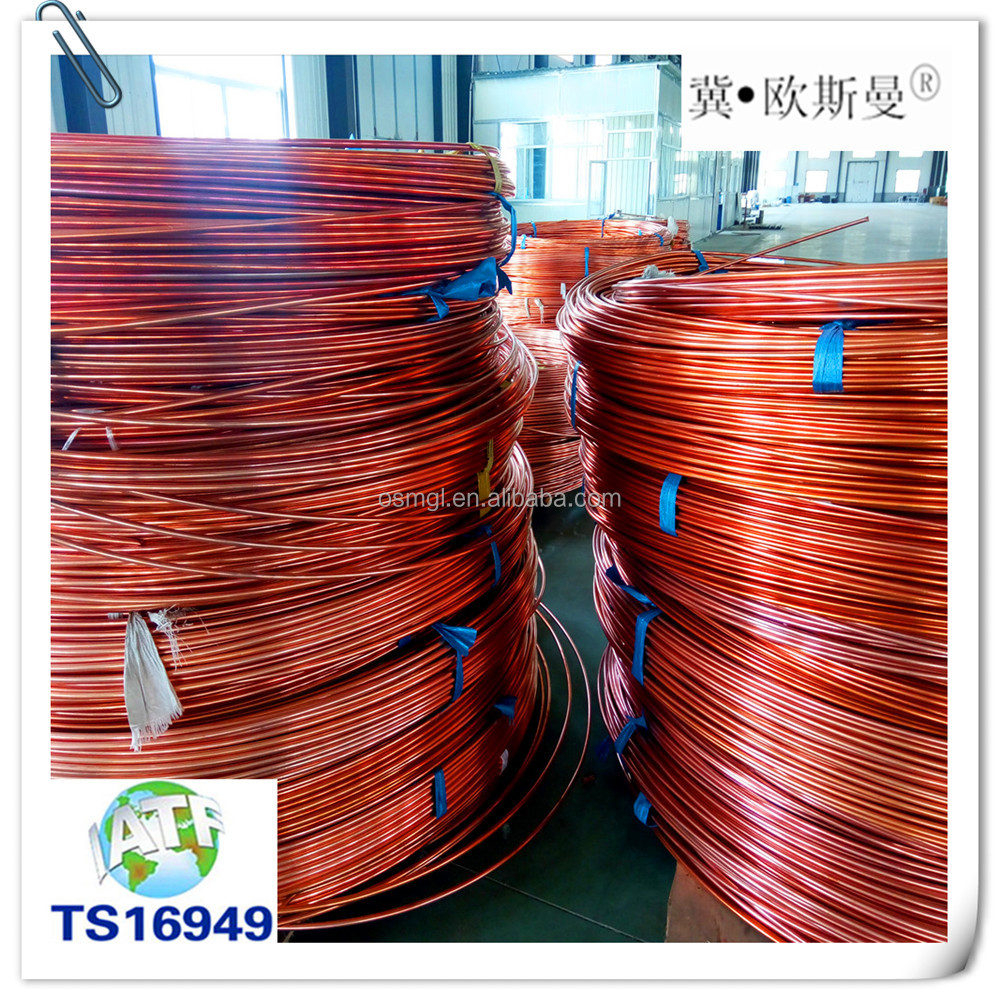 High Quality Double Side Copper Coated Bundy Tube 8*0.7