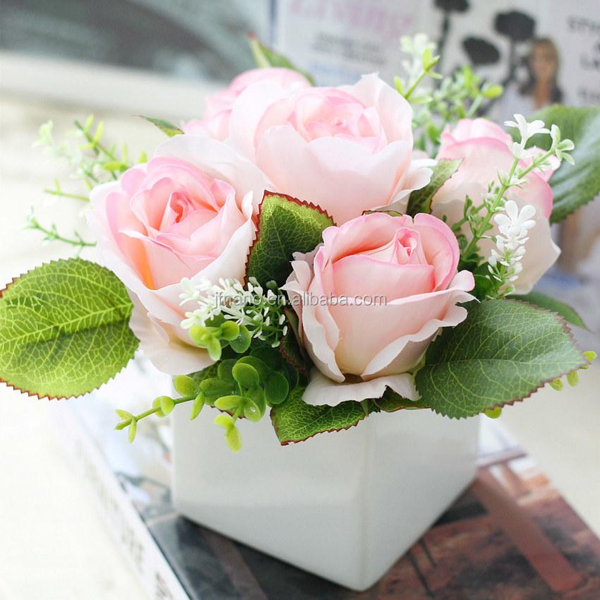 Kleine topfpflanzen realistische rosa k nstliche hochzeit for Kleine mucken in topfpflanzen