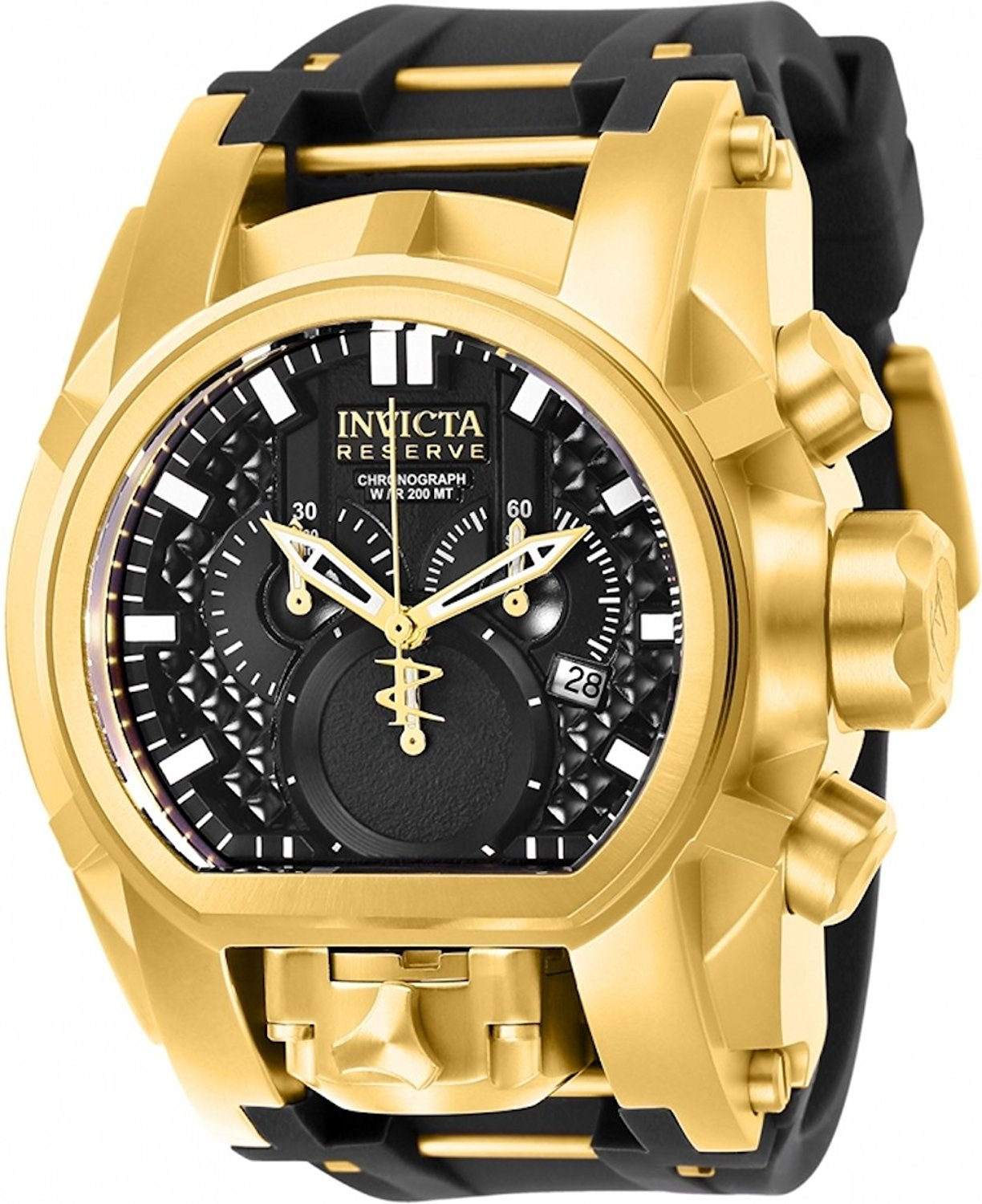 Invicta Reserve Men's 52mm Bolt Zeus Magnum Swiss Quartz Dual Movement Silicone Strap Watch (25607)
