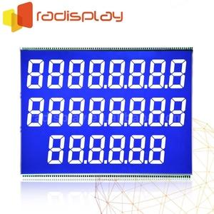 7 Segment 776 /886 Negative Blue VA Fuel Dispenser STN TN Lcd Display