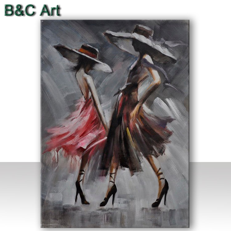 Wall Art Abstract Flamenco Dancer Fashion Girls Oil Painting