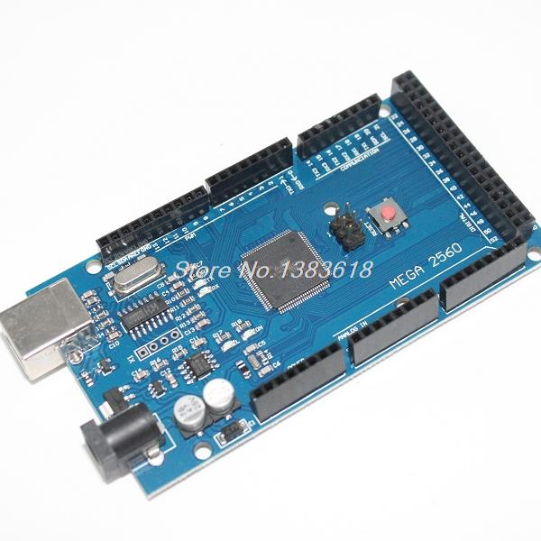 Smart Electronics Mega 2560 R3 ATmega2560-16AU Board NO USB Cable compatible for arduino good quality low price [No USB line]