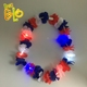 Alibaba website hot sell LED Flower Leis hawaii flower necklace