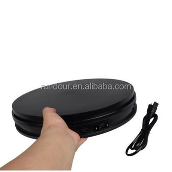 35cm White/black 50kg Loading 360 Degree Rotating Display Stand Turntable  To Make Video - Buy Battery Display Turntable,Small Rotating Turntable