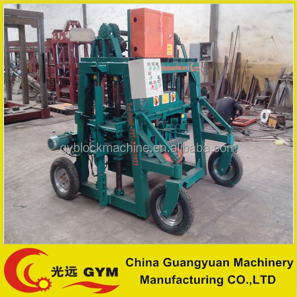 mobile egg laying building material hollow block making machine price