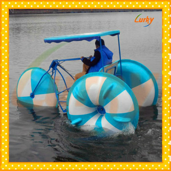 High quality aquatic tricycle used amusement park/interesting aquatic tricycle for sales/water park aquatic tricycle for selling