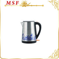 2015 hot sale electric kettle with color changing flower decal internation safety certification & compliance MSF-3051-E-kettle