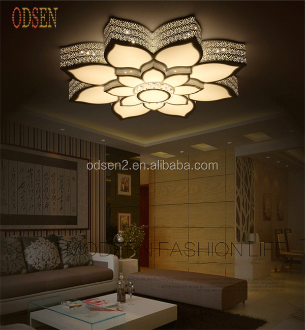 led lmpara de techo moderna flor de loto llev