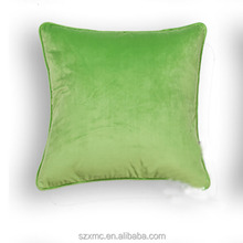 Polyester plush bright color car backrest throw pillow