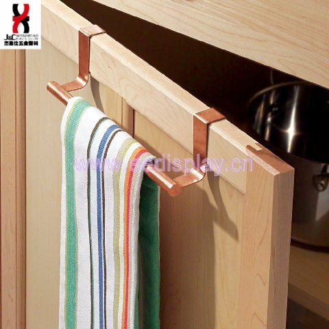 Copper Over-the-Cabinet Kitchen Dish Towel Bar Holder