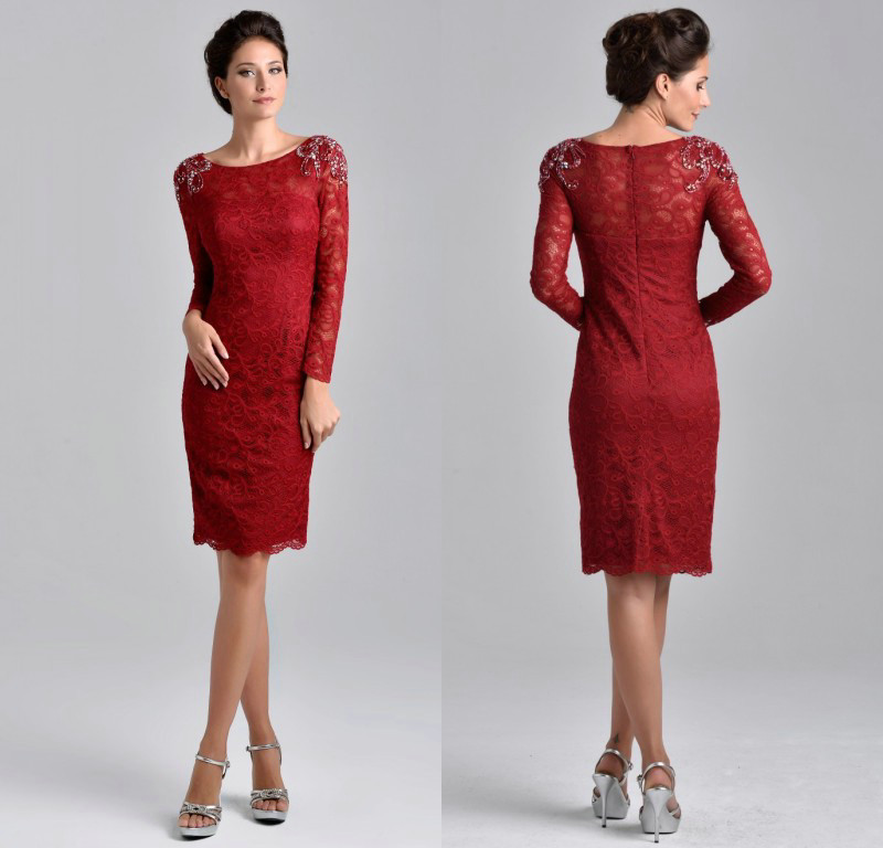 ZZ1028 Elegant Lace Full Sleeve Mother Of The Bride