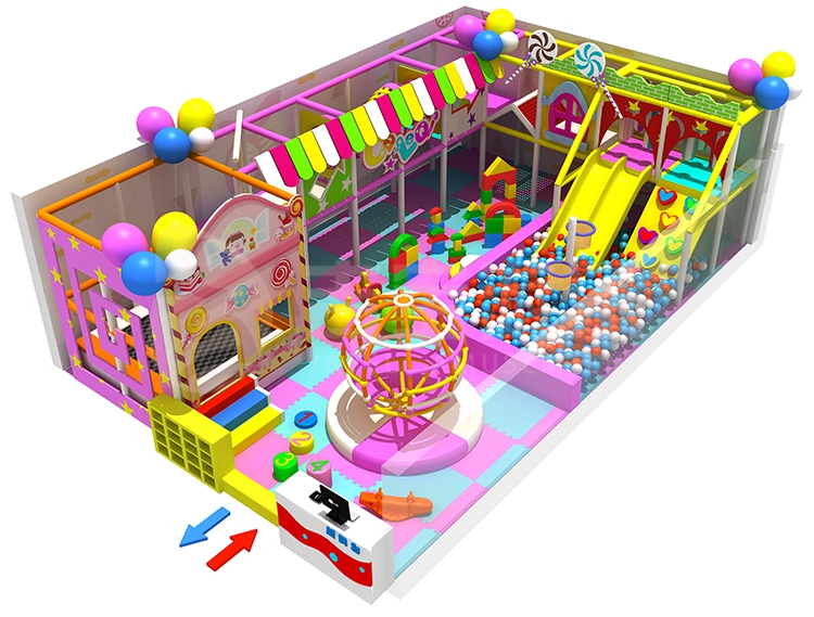 Factory custom indoor playground children candy theme projects park equipment for sale