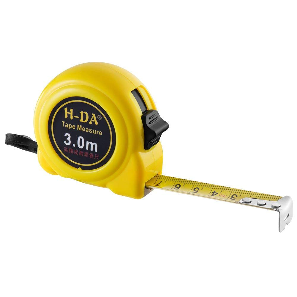 H-DA Tape Measure TL-0413M 120inches(10ft)/300cm(3M) Retractable Tape Ruler Metric and Inches Measuring Tape, with Wrist Strap for Construction, Home, Carpentry Measurement