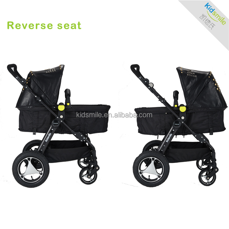 New design baby stroler with carry cot pu cover 8090f buy new design