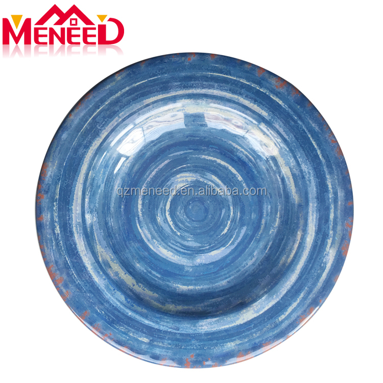 Ceramic like bumpy design picnic melamine dinnerware wholesale
