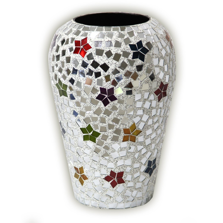 Cheap vase mosaic glass find vase mosaic glass deals on line at get quotations bohemian rhapsody rainbow mosaic flower vase 12 handmade metal vase w mirrored glass reviewsmspy
