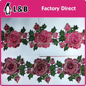 factory manufacture multicolor national style embroidery designs 3D flower lace