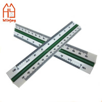 30cm Triangular Aluminium Tri Scale Metal Ruler Architects Engineers Rule 12""