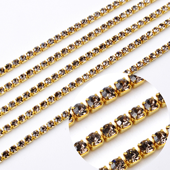 SS8 crystal rhinestone Cup Chain With Silver Copper Claw Rhinestone Trimming DIY Garment Accessories
