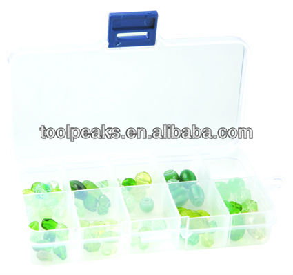 Jewelry plastic bead box Bead Orangeizers with Adjustable Compartments