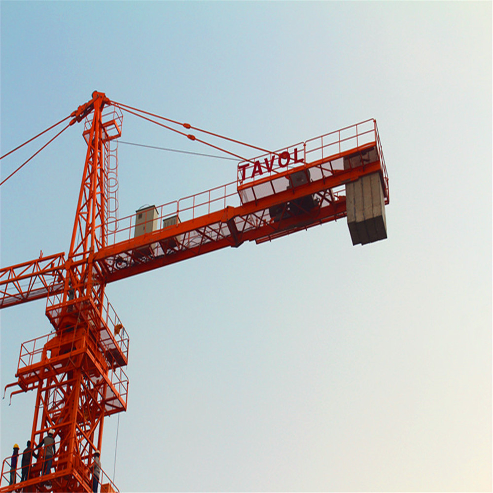 QTZ125-6015 10 ton top kit tower cranes of tower crane motor