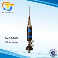 TOPRADIO 26-28MHz CB Antenna CB-T638 400W Stainless Steel UHF-Male