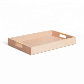 Hot Pink Pu Leather Tray Hotel Serving