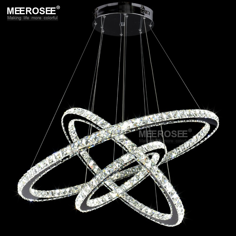 diamond ring led kristallen hanglamp moderne led verlichting cirkels opknoping lamp md8825 3r. Black Bedroom Furniture Sets. Home Design Ideas
