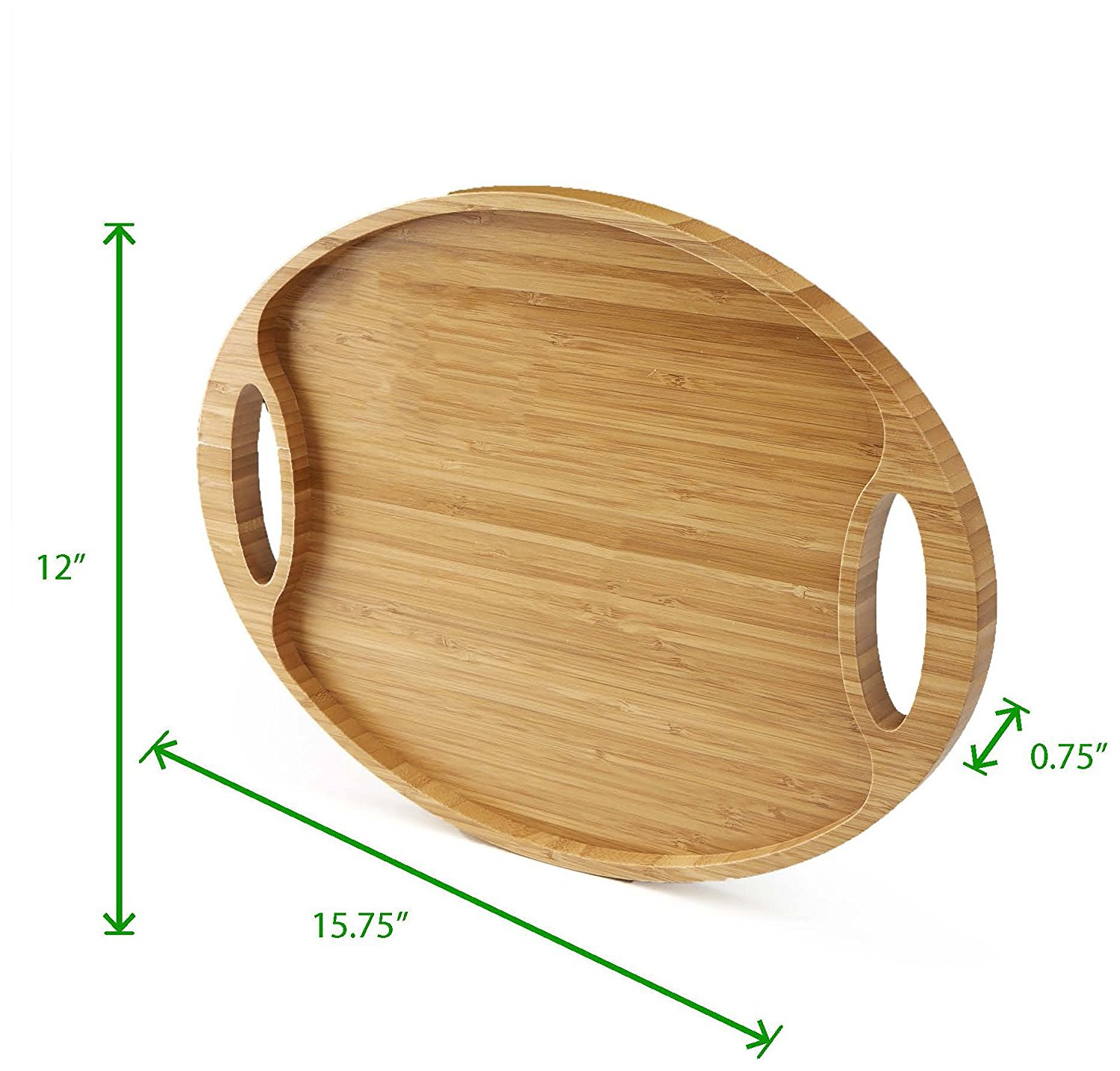 Promotional Products For Bamboo Tray Serving With Two Stylish Holder