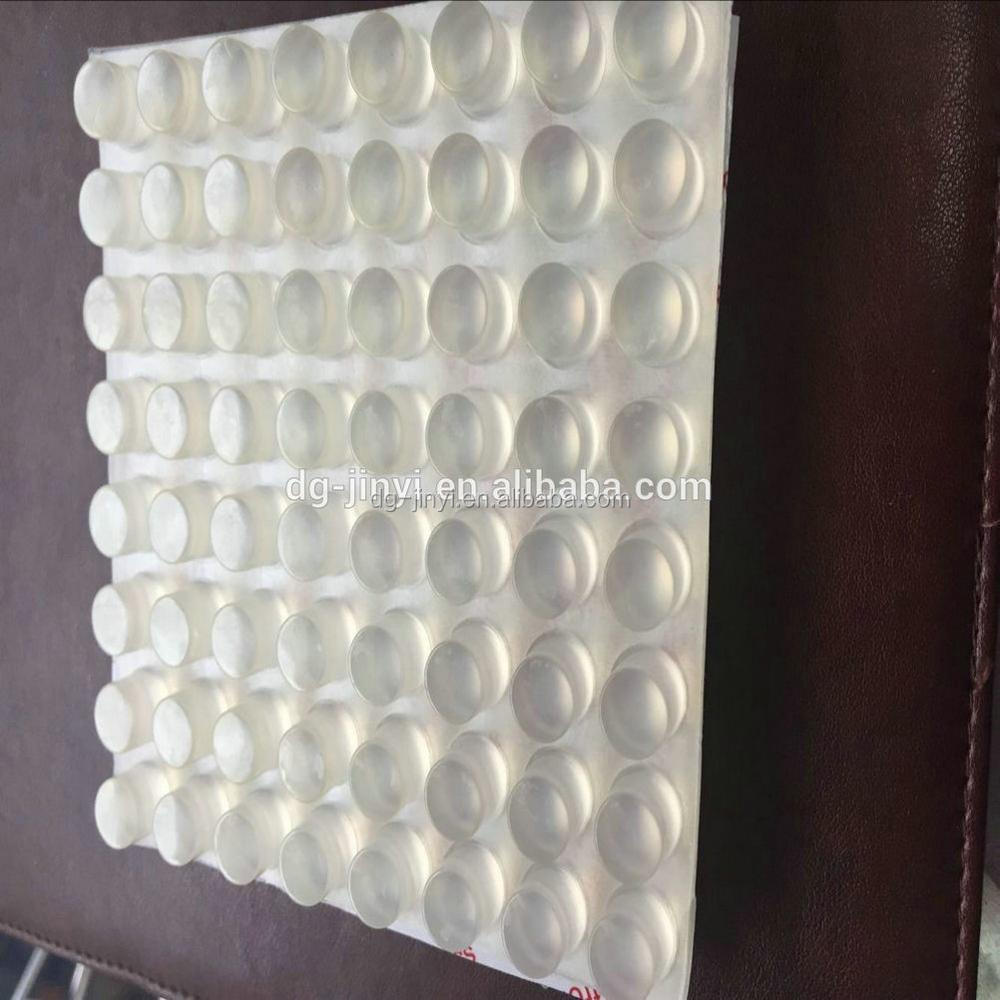 Round silicone bumper dot with 3m adhesive on back
