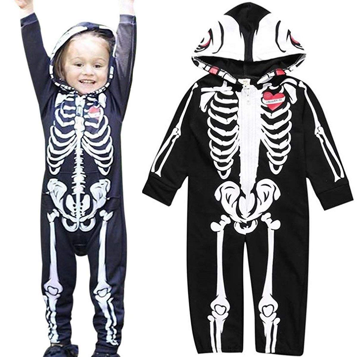 LOTUCY Toddler Baby Boys Girls Long Sleeve Warm Hoodie Zipper Romper Baby Costumes Jumpsuit Autumn Winter Outfits
