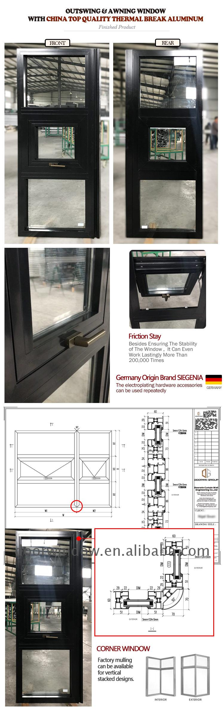 Outswing awning window aluminium office door with glass