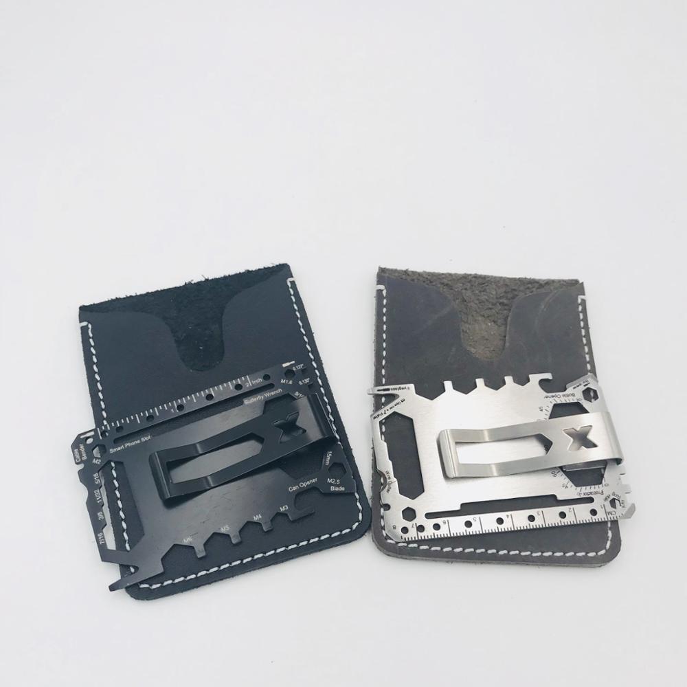 X- Best Gift custom multitool credit card survival pocket wallet knife 46 tools in 1