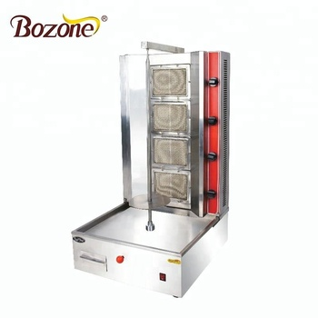 Kitchen Portable Restaurant Equipment Doner Bebab Grill Desktop Gas Shawarma Machine Gyros Grill With 4 Burners