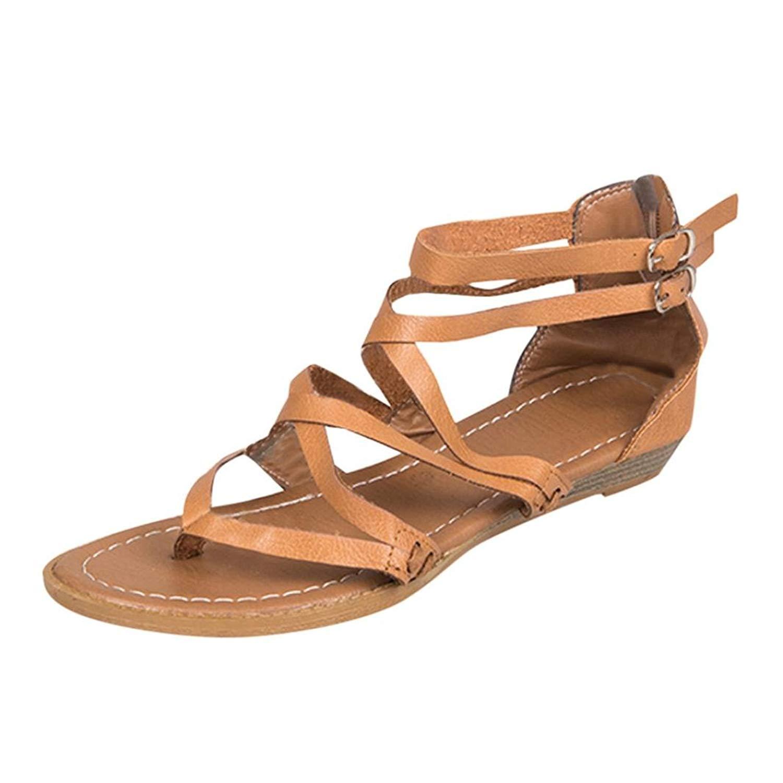 35c9e09571d2fd Get Quotations · Inkach-- Womens Flip-Flops Sandals ❤ Fashion Cross Strap  Summer Thong Sandals